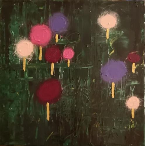Barbara Ofner, Blumenwiese, Plants: Trees, Decorative Art, Contemporary Art