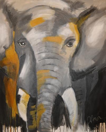 Barbara Ofner, Der Elefant, Animals: Land, Miscellaneous Animals, Contemporary Art