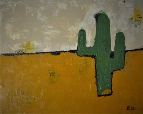 Barbara Ofner, Der Kaktus, Landscapes: Plains, Miscellaneous Plants, Contemporary Art
