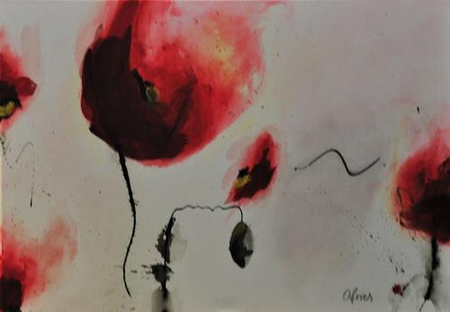 Barbara Ofner, Mohnblume, Plants: Flowers, Landscapes: Summer, Contemporary Art, Expressionism