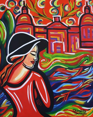 Damaris Dorawa, Red Castle, People: Women, Pop-Art