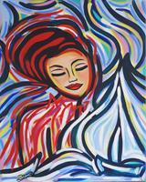 Damaris-Dorawa-People-Women-Landscapes-Sea-Ocean-Modern-Age-Pop-Art