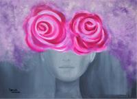 Damaris-Dorawa-People-Women-Plants-Flowers-Modern-Age-Pop-Art