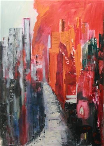 Heidi Schröder, New York Straßenschluchten, Abstract art, Abstract Art