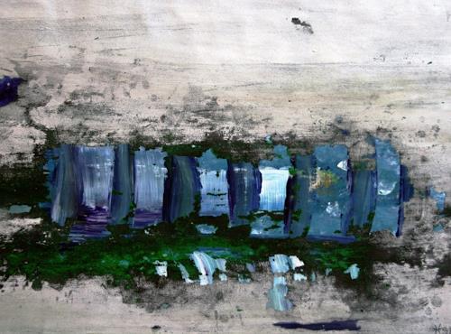 Heidi Schröder, Blaue Landschaft, Abstract art, Abstract Art