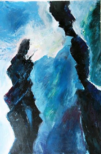 Heidi Schröder, Begegnung, Abstract art, Abstract Art