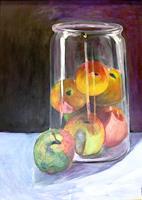 H. Schröder, Äpfel im Glas