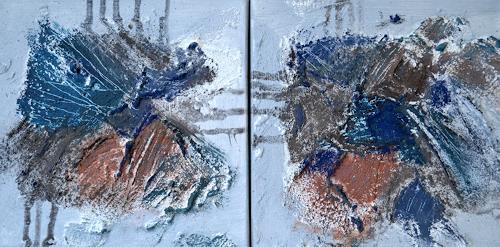 Christiane Emert, blue connection, Abstract art, Non-Objectivism [Informel]