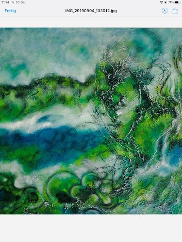 Oli (Olivia) Melly, An der Aare, Abstract art, Landscapes, Contemporary Art, Expressionism