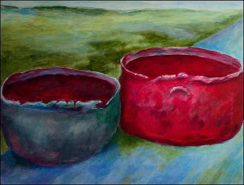 Udo Greiner, Die Tröge - Secrets 13/17, Landscapes, Fantasy, Expressive Realism, Expressionism