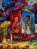 Udo-Greiner-Landscapes-Buildings-Modern-Age-Expressionism-Neo-Expressionism