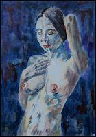Udo-Greiner-Erotic-motifs-Female-nudes-People-Women-Modern-Age-Expressive-Realism
