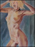 Udo-Greiner-People-Erotic-motifs-Female-nudes-Modern-Age-Expressive-Realism