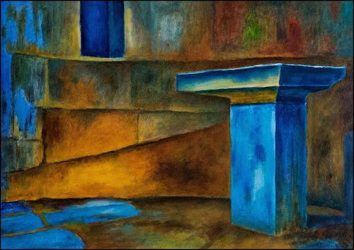 Udo Greiner, Der Altar - Secrets 17/20, Fantasy, Mythology, Expressive Realism, Expressionism