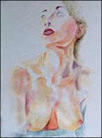Udo-Greiner-People-Women-Erotic-motifs-Female-nudes-Modern-Age-Expressive-Realism