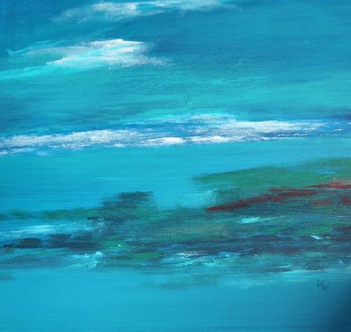 Karin Kraus, Meeresimpressionen II, Landscapes: Sea/Ocean, Nature: Water, Contemporary Art