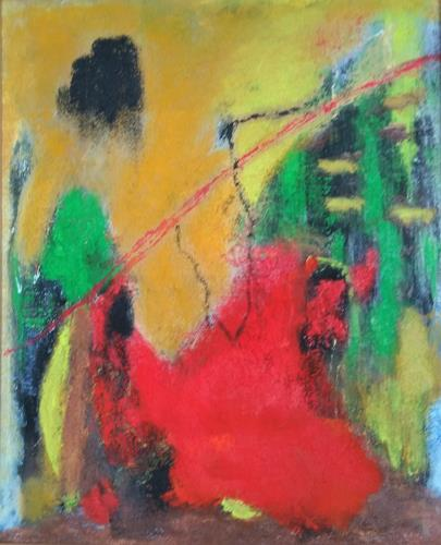 Karin Kraus, Der Weg ist das Ziel, Abstract art, Fantasy, Contemporary Art