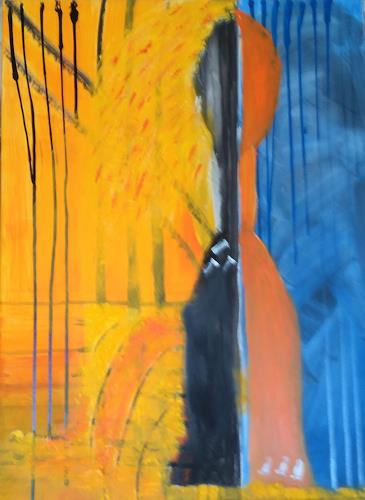 Karin Kraus, Ohne Titel, Burlesque, Abstract art, Expressionism