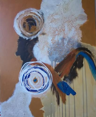 Karin Kraus, OT 2020-2, Burlesque, Abstract art, Expressive Realism, Abstract Expressionism