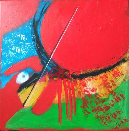 Karin Kraus, OT- 21- 3, Burlesque, Abstract art, Contemporary Art, Abstract Expressionism