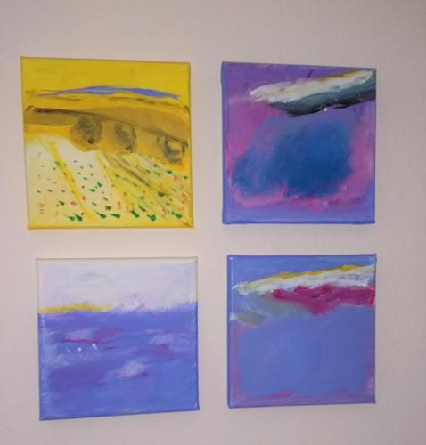 Karin Kraus, Landschaftsbilder, Landscapes, Abstract art, Abstract Art