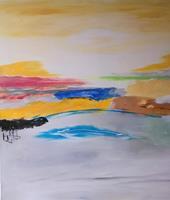 Karin-Kraus-Landscapes-Abstract-art-Modern-Age-Abstract-Art-Non-Objectivism--Informel-