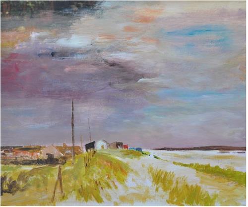 Norbert von Bertoldi, Küstenstück bei Cornwall, Landscapes: Sea/Ocean, Post-Impressionism, Expressionism