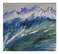 Norbert-von-Bertoldi-Landscapes-Mountains-Modern-Age-Expressive-Realism