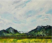 Norbert-von-Bertoldi-Landscapes-Mountains-Modern-Age-Impressionism-Neo-Impressionism