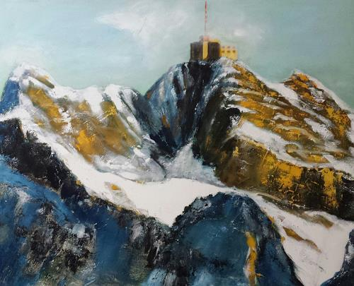 Küver, Säntis, Landscapes, Abstract Art, Expressionism
