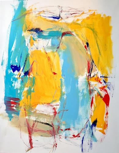 Christel Haag, Go for It 1, Abstract art, Contemporary Art, Expressionism