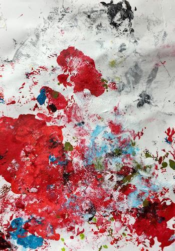 Christel Haag, Himbeeren zum Frühstück, Abstract art, Contemporary Art