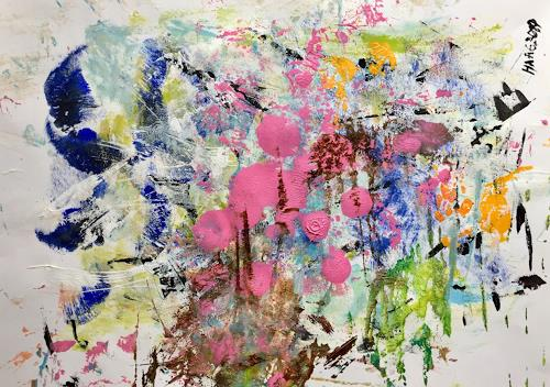Christel Haag, Emotion and Movement 1, Abstract art, Plants, Contemporary Art, Expressionism