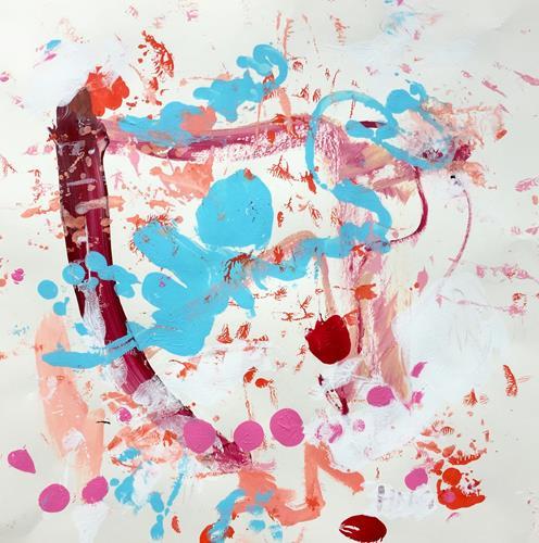 Christel Haag, Blaues Engelchen, Abstract art, Contemporary Art
