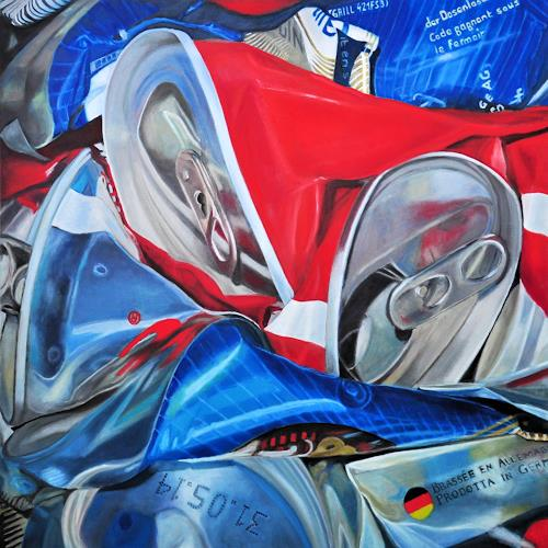 Susanne Wolf, ART OF RECYCLING, Situations, Industry  , Photo-Realism, Abstract Expressionism