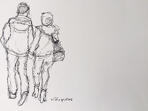 Susanne Wolf, Menschen auf der Durchreise, People: Couples, Body Art