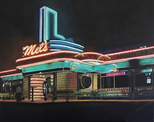 Susanne Wolf, Mels Diner, Architecture, Meal, Photo-Realism
