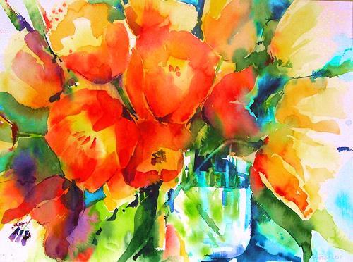 Edith Plazotta, Tulpen, Plants, Naturalism, Expressionism