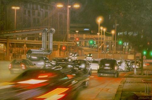 Richard Mierniczak, Stuttgart 21 - Rush hour, Miscellaneous Landscapes, Movement, Contemporary Art, Abstract Expressionism