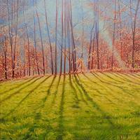 Richard-MIerniczak-Nature-Wood-Landscapes-Autumn-Modern-Age-Impressionism-Neo-Impressionism