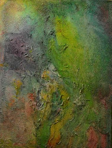 Barbara Zucker, Green Glamour, Fantasy, Abstract Art, Expressionism