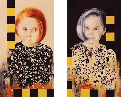 Thomas Thüring, Das Kismet, People: Portraits, People: Families, Contemporary Art, Abstract Expressionism