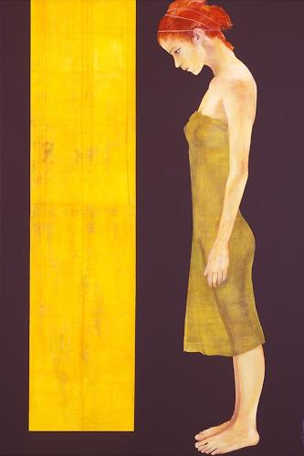 Thomas Thüring, Die Tür in Gelb, People: Women, Symbol, Contemporary Art, Expressionism