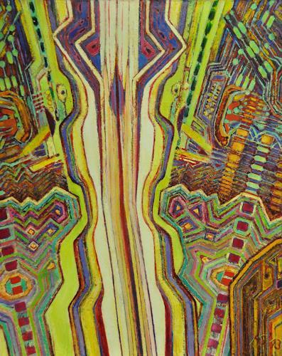 Arthur Schneid, CERN 5 - Datenautobahn, Technology, Abstract art, Contemporary Art