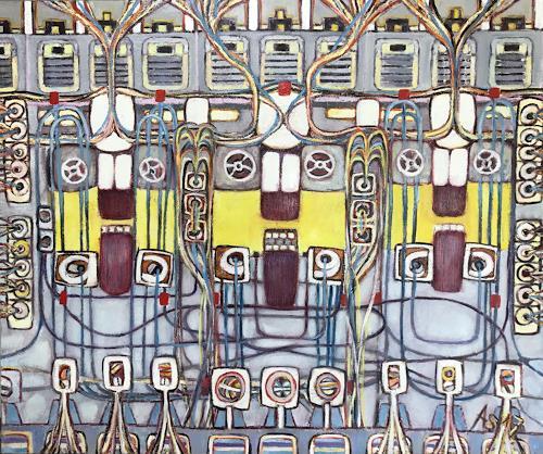Arthur Schneid, BIG Data - Robotnik, Technology, Society, Abstract Art