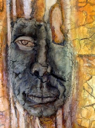 """Eva Vogt, Detail vom Bild """"Baumgesicht, People: Faces"""