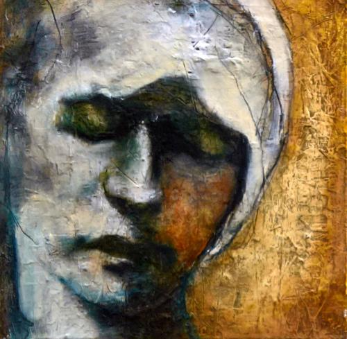 Eva Vogt, Maria, People: Faces, Abstract Art, Expressionism