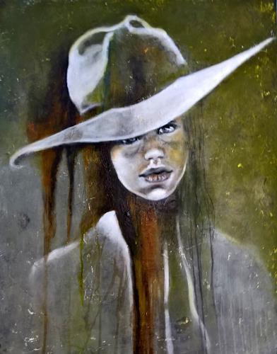 Eva Vogt, Mamas Hut steht mir gut, People: Children, Abstract Art, Expressionism