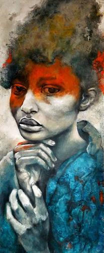 Eva Vogt, Ich weiß es nicht, People: Faces, Abstract Art, Abstract Expressionism
