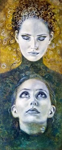 Eva Vogt, Siehst du mich nicht?, People: Faces, Contemporary Art, Expressionism